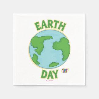 Día de la Tierra de Webkinz Servilletas De Papel