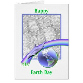Día de la Tierra del delfín (marco de la foto) Tarjeta De Felicitación