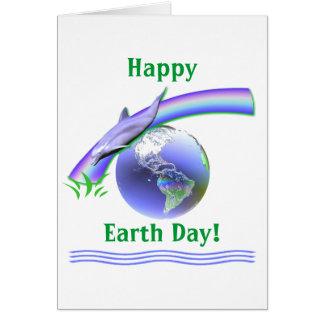 Día de la Tierra del delfín Tarjeta De Felicitación