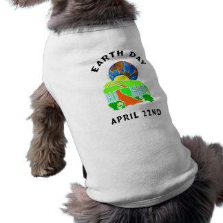 Día de la Tierra en casa Camiseta Sin Mangas Para Perro