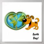 Día de la Tierra y calabaza Posters