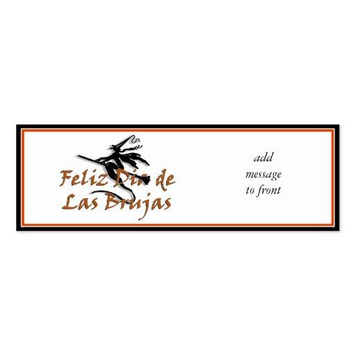 Dia de Las Brujas Tarjetas De Visita