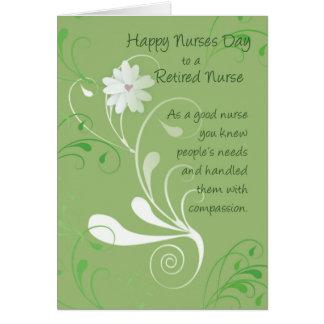 Día de las enfermeras, la enfermera jubilada le tarjeta de felicitación