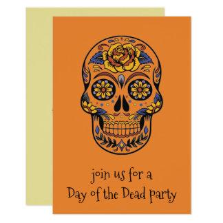 Día de las invitaciones esqueléticas muertas del invitación 8,9 x 12,7 cm