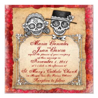 Día de las invitaciones muertas del boda invitación 13,3 cm x 13,3cm