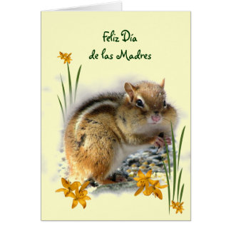 Dia de las Madres de Chipmunk Tarjeta De Felicitación