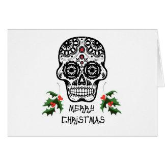 Día de las tarjetas muertas de Navidad del cráneo