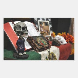 Día de los 2008 de MECA del festival muerto Pegatina Rectangular