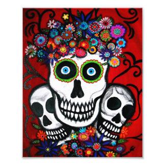 Día de los cráneos del mexicano 3 de la pintura mu foto