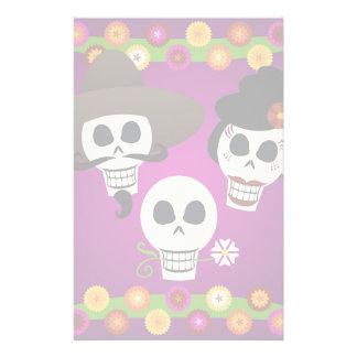 Día de los cráneos muertos papelería de diseño
