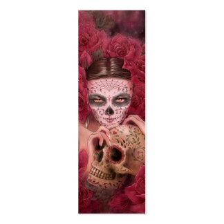 Dia de los Muertos Bookmark Plantilla De Tarjeta De Visita