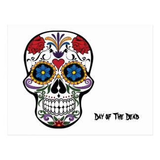 Día de los muertos, cráneo del azúcar de Calavera Postal