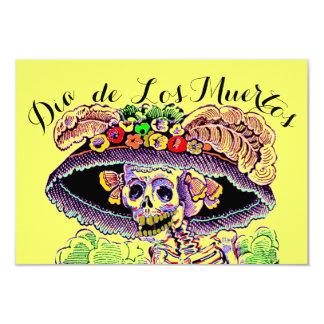 Dia de Los Muertos Day de las invitaciones muertas Invitación 8,9 X 12,7 Cm