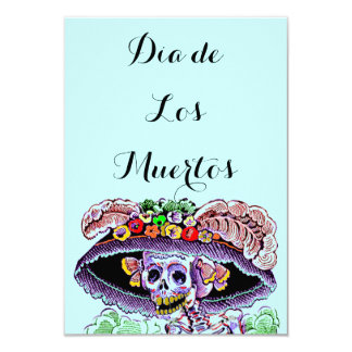 Dia de Los Muertos Day del Catrina muerto invita Comunicados