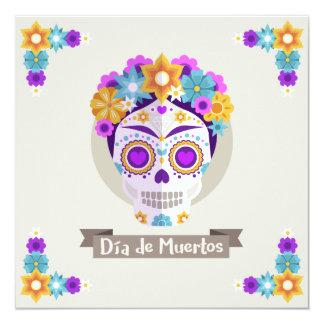 Dia de los Muertos Day del día de fiesta muerto Invitación 13,3 Cm X 13,3cm