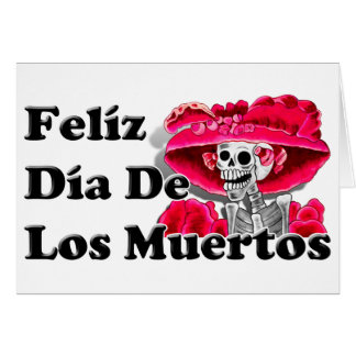Dia De Los Muertos (La Catrina) Tarjeta Pequeña