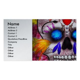 Día de los muertos - máscara de muerte tarjetas de visita