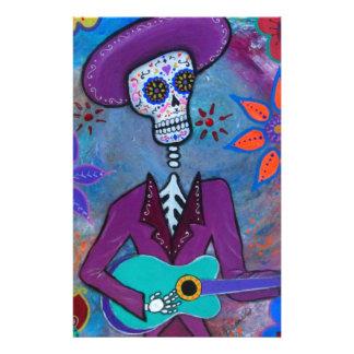 Dia de los Muertos Musico Papelería Personalizada