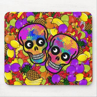 Dia De Los Muertos - par feliz W/Fruit Tapetes De Raton