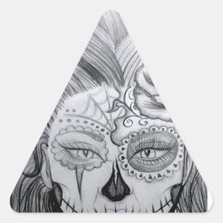 Dia de los Muertos Pegatina Triangular