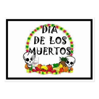 Dia De Los Muertos Plantilla De Tarjeta De Negocio