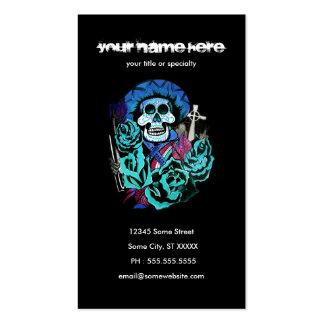 dia de los muertos tarjeta de visita