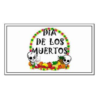 Dia De Los Muertos Plantilla De Tarjeta Personal