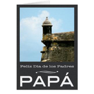 Dia de los Padres Puerto Rico Tarjeta De Felicitación