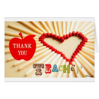día de los profesores tarjeta de felicitación