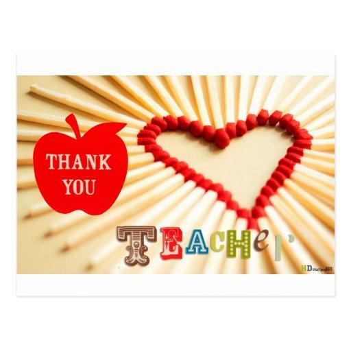 día de los profesores tarjeta postal