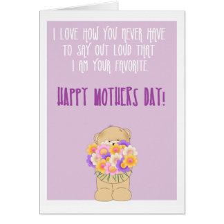 Día de madres divertido feliz tarjeta de felicitación