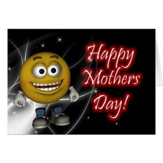 Día de madres feliz con la tarjeta sonriente