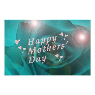día de madres feliz flyer
