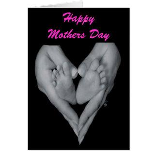 Día de madres feliz Nueva tarjeta de felicitación