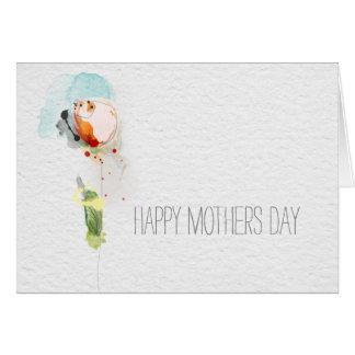 Día de madres feliz tarjeta