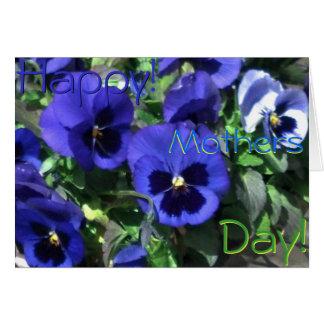 ¡Día de madres feliz! Tarjeta azul de 2013 pensami