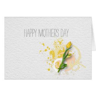 Día de madres feliz tarjeta pequeña