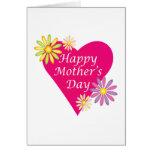 Día de madres feliz tarjetón