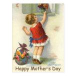 Día de madres feliz - vintage postal
