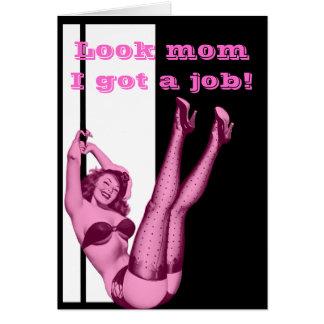 Día de madres modelo del chica del vintage diverti tarjeta de felicitación