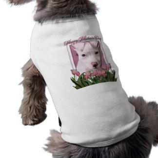Día de madres - tulipanes rosados - perrito de Pit Ropa De Perros