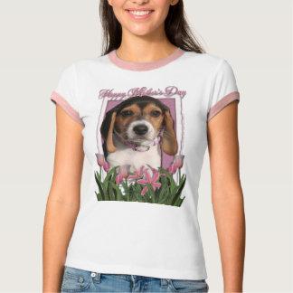 Día de madres - tulipanes rosados - perrito del camisas