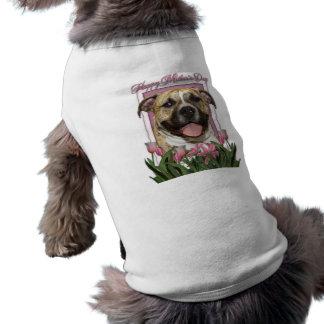 Día de madres - tulipanes rosados - Pitbull - Tigg Ropa Para Mascota