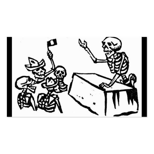 """Día de México el """""""" del """"Dia muerto de los Muertos Tarjetas De Negocios"""