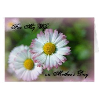 Día de Mother'd para mi esposa Tarjeton