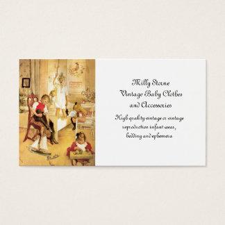 Día de navidad en el cuarto de niños tarjeta de negocios