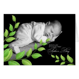 Día de padre del   del yerno el 1r el   recién tarjeta de felicitación