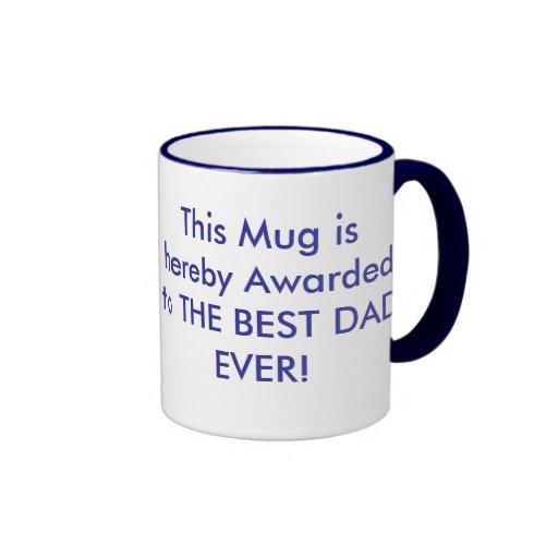 Día de padres tazas de café