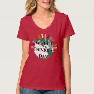 Día de pensamiento del mundo camisetas
