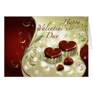 Día de San Valentín feliz del chocolate Tarjeta